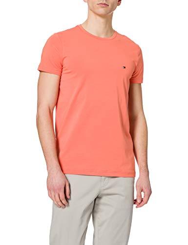 Tommy Hilfiger Stretch Slim FIT tee Camiseta, Puesta de Sol de Verano, XL para Hombre