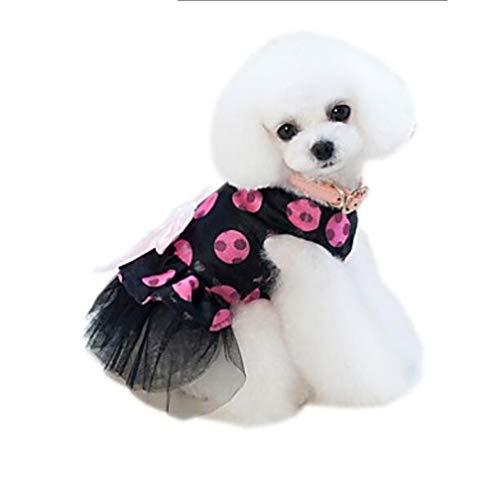 YAMEIJIA Huisdieren Jumpsuit Jurk Hond Kleding Effen Gekleurde Bloem/Bloemen Cartoon Geel Fuchsia Netto Kostuum Voor Huisdieren Stijlvolle Spots & Checks