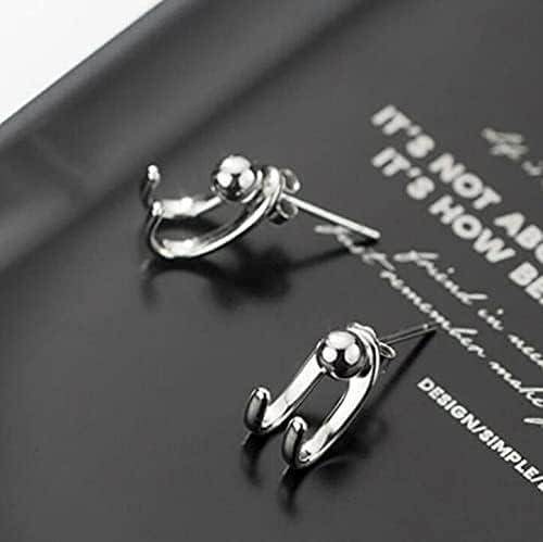 NXNG Simple Half Hoop Claw Tail Stud Earrings Elf Ears Hook Stud Earrings…