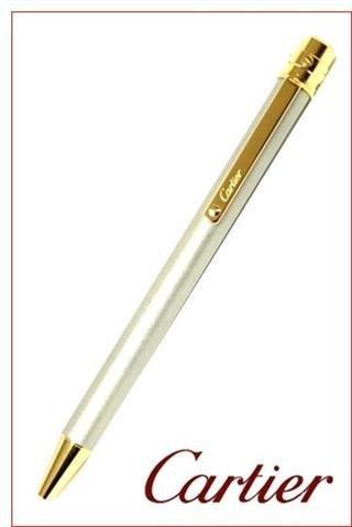 CARTIER(カルティエ) ST150192 サントス ボールペン スティールカラーラッカー ゴールドプレイテッド