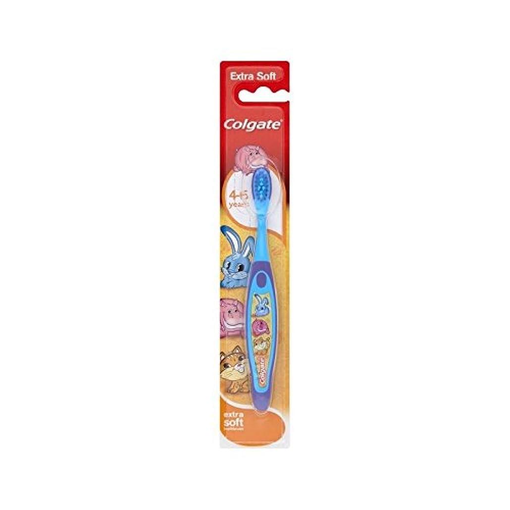 同一の斧鎮痛剤4-6歳の歯ブラシを笑顔 (Colgate) (x 2) - Colgate Smiles 4-6 Years Old Toothbrush (Pack of 2) [並行輸入品]