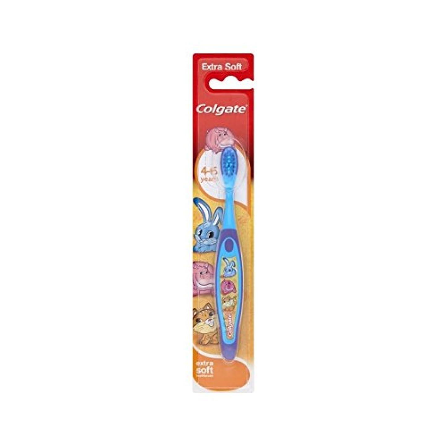 クマノミ部族ゴミ箱4-6歳の歯ブラシを笑顔 (Colgate) (x 4) - Colgate Smiles 4-6 Years Old Toothbrush (Pack of 4) [並行輸入品]