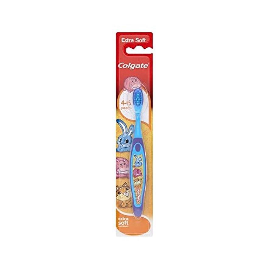 経由で色シルク4-6歳の歯ブラシを笑顔 (Colgate) (x 6) - Colgate Smiles 4-6 Years Old Toothbrush (Pack of 6) [並行輸入品]