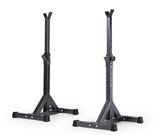 OESFL Bench Press ajustable Estante de múltiples funciones del levantamiento de pesas fitness jaula de sentadillas ajustable prensa de banco de peso Stand, Barra estante prensa de banco de bastidor de