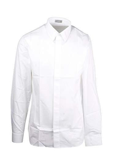Dior Luxury Fashion Herren 013C501A4743080 Weiss Hemd | Frühling Sommer 20