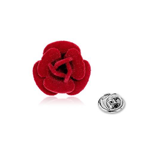 Culer Risvolto Fiore All'Occhiello Pin Rose Flower Pin del Risvolto A Mano Rose Lasciare Spilla per Le Donne