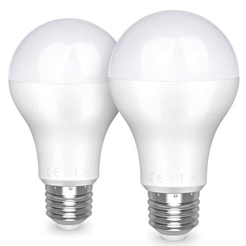 Awenia Bombilla LED Esférica E27 20W (Equivalente a 150W), Luz LED 3000K 2452 Lúmenes Blanco Cálido, Pack de 2