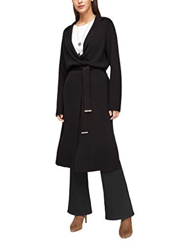 s.Oliver BLACK LABEL Damen Long-Cardigan aus Feinstrick Black M