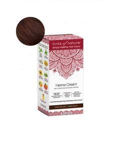 Tints of Nature, Semi-Permanent Henna Cream Hair Colour - Chocolate, 95% Natural, Vegan, and Cruelty Free, Single