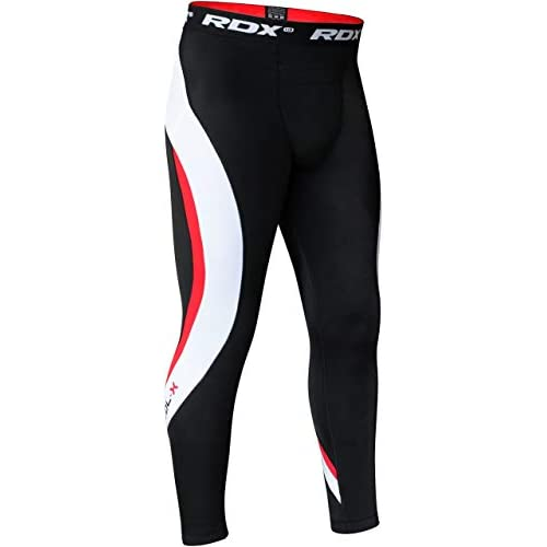 RDX MMA Thermal Compression Pants Boxing Training Base Layer Fitness Running Exercise