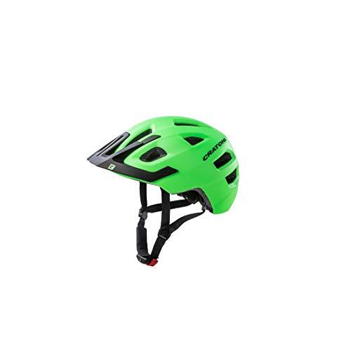 Cratoni Maxster Pro Casque de vélo Enfant, Lime/Black Matt, XS-S