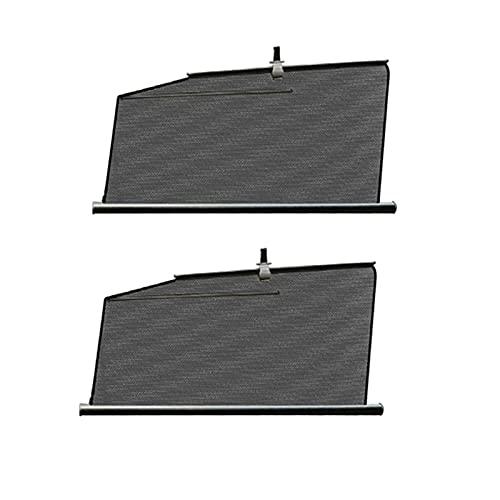 H HILABEE 2x cortinas de ventana de coche para vehículos Tesla modelo 3, parasol, protector solar, bloque UV, cubierta de cortina para dormir para bebés - lado delantero