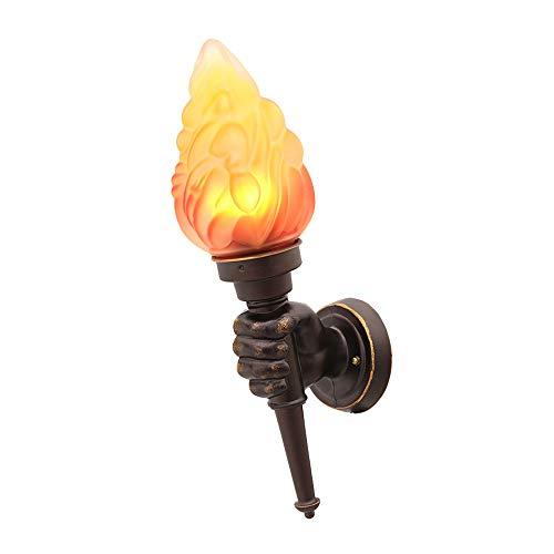 Ruixinbc wandlamp, voor binnen en buiten, lampenkap van glas, nachtverlichting, wandlamp, geschikt voor woonkamer, café, restaurant