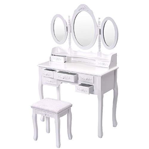 Why Choose Table Seat Mirror Dressing Folding Vanity Makeup Drawer Stool Storage
