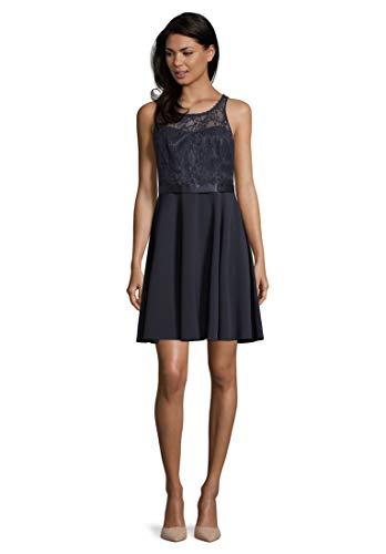 Vera Mont VM Damen 0100/4938 Kleid, Blau (Night Sky 8541), (Herstellergröße: 38)