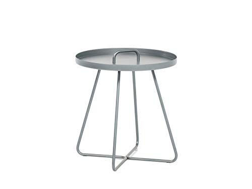 Eenvoudige meubels bijzettafel Portals aluminium antraciet