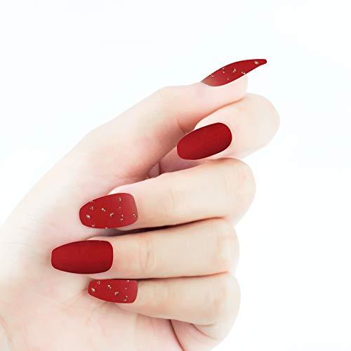 Beashine Nagel Sticker, 24 Aufkleber Nail, Für Frauen Design 3D Nagel Sticker selbstklebende Aufkleber Nail Art Tipp Maniküre Decals Abziehbilder Schöne Mode DIY Nail Art Dekoration(DA196)