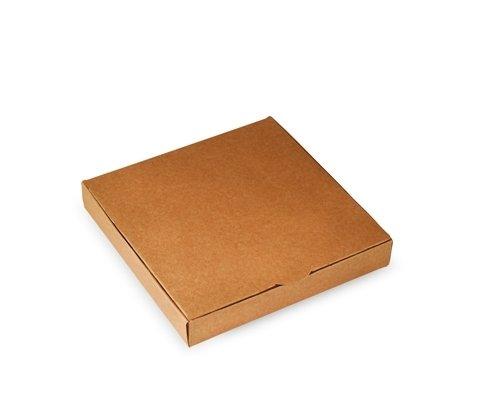 Selfpackaging Caja Plana para Invitaciones o Regalos en catulina Kraft. Pack de 50 Unidades - S