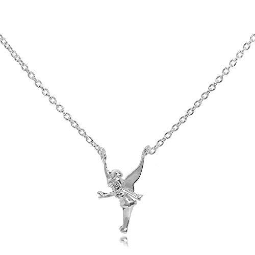 Sterlingsilber Tinkerbell Fee Halskette an 45,7cm Kette