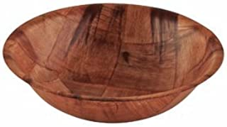 Winco Woven Wood Salad Bowl, 6 inch - 12 per case.
