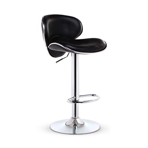 Barkruk Hoge kruk Barkruk Draaien Hefkruk Barkruk met rugleuning Keuken Eetkamerstoel Tafel Stoel Counter Chair (Color : Black)