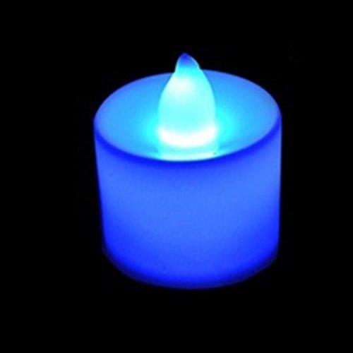 5Pcs Bougies de Batterie romantiques LED de Lumière Bleu