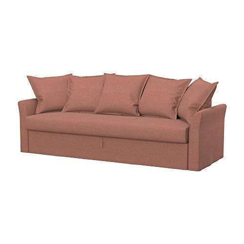 Soferia Funda de Repuesto para IKEA HOLMSUND sofá Cama de 3 plazas, Tela Elegance Blush Pink, Rosa