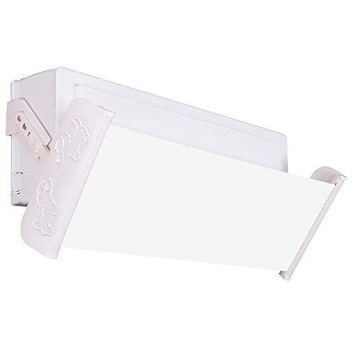 Deflector de aire acondicionado y aire acondicionado, deflector de viento, 180 grados ajustable, longitud ajustable Adjustable length blanco