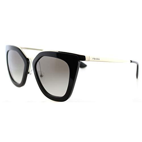 Prada Damen 0Pr53Ss 1Ab0A7 52 Sonnenbrille, Schwarz/Gold (Black/Gold)