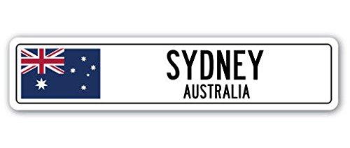 Cortan360 SYDNEY, AUSTRALIA Street Sign Decal Australian flag city country road wall gift 8