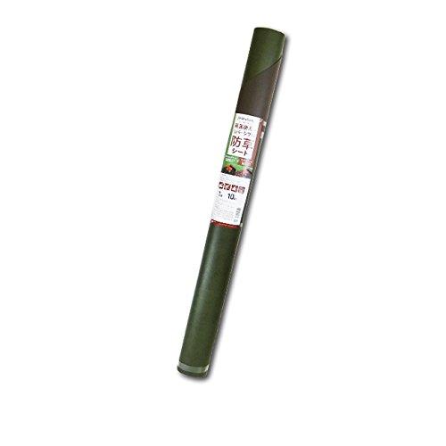 両面使える リバーシブル 防草シート 1m×10m フォレストグリーン×ウッドブラウン