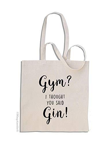Gym? I Thought You Said Gin! - Baumwolle Einkaufstasche