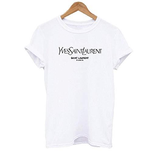 DamenT-ShirtLetter Top Kurzarm O-AusschnittBaumwolle T-Shirt