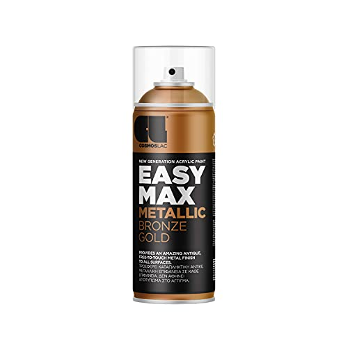 EASYMAX Sprühlack matt mit extrem hoher Deckkraft - Spraydosen Sprühfarbe DIY Lack Acryllack Spray Paint Farbspray Sprühdose Lackspray (Bronze Gold)