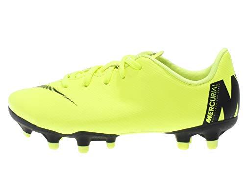 Nike Jr. Mercurial Vapor XII Academy FG/MG, Zapatillas de Fútbol Unisex Niños, Negro (Volt/Black 701), 29.5 EU