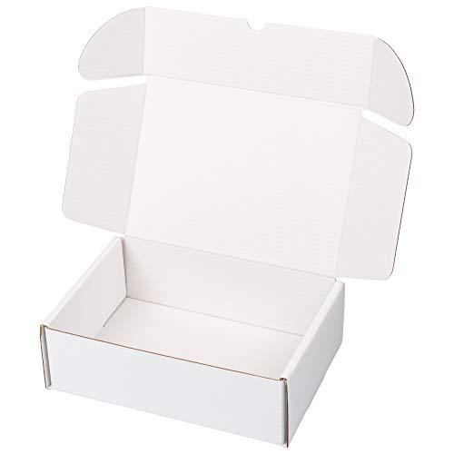 packer PRO Pack 25 Cajas Carton Envios Automontables para Ecommerce y Regalo Blancas, Pequeña 25x18x8cm
