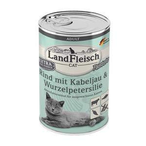 Landfleisch Cat Adult Pastete Rind+Kabeljau | 6X 400g Katzenfutter
