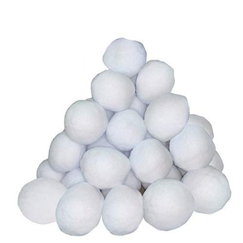 Supoice 50 Pack Snow Fight Balls 3 Inch Large Size Christmas & Winter Holiday Realistic Fake Snow Toys for Indoor & Outdoor Snow Fight & Toss Game