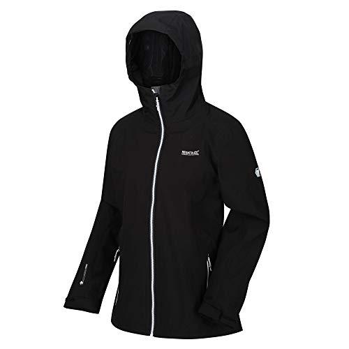 Regatta Veste technique à capuche 3 en 1 imperméable et respirante Wentwood IV avec veste isolante interne Veste Femme Black(Black) FR : XL (Taille Fabricant : 46)