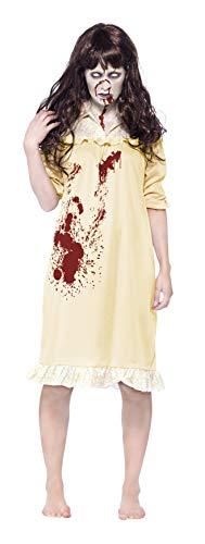 Smiffys, Damen Zombie-Albtraum Kostüm, Nachthemd und Perücke, Größe: M, 43723