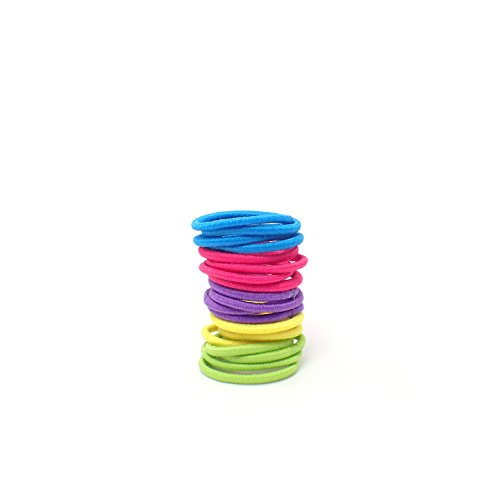 Girl's Hair Bobbles Bands Mini Baby Ponytail Elastic Stretchy Hairband, Baby small hair elastics bobbles bands, tiny hair band, girls bands (20x Brights)