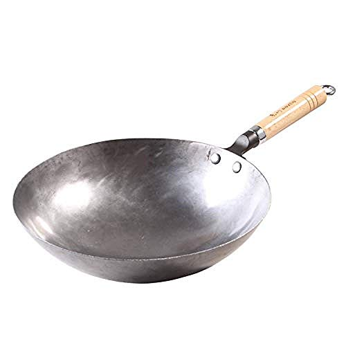 ZXYY Handmade wok iron pot non-stick cooker The old Chinese wok gas stove applicable iron pot 32cm