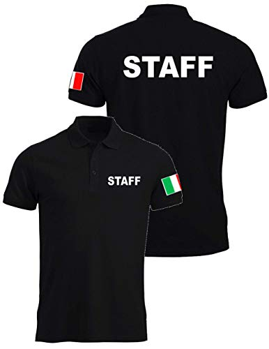 WIXSOO Polo Staff Uomo Italia Nera (XXL)