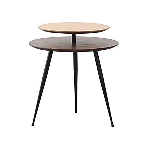 LIANG Soffbord, 2 tier liten fyrkantig bord vardagsrum soffa sidobord hörn bordsskåp hörn sovrum sängbord vardagsrumsmöbler (Color : 01)