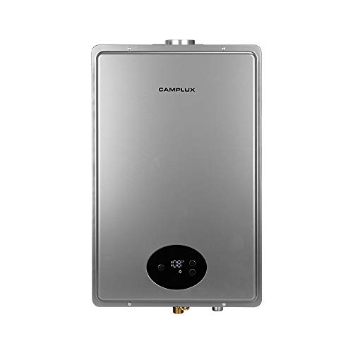 Camplux CA528 5.28 GPM Indoor Natural Gas Water Heater,Grey