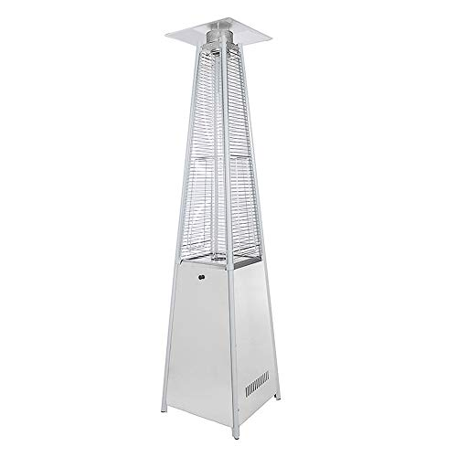 MoMi Liquefied Gas Propane Patio Heater, Visual Flame Patio Heater, Legacy Quartz Glass Tube, 227X73x73cm, Windproof And Rainproof
