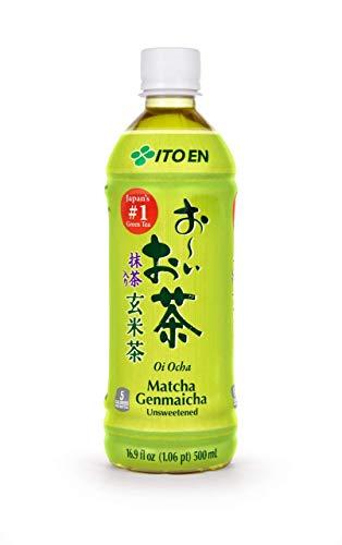 ITO EN Matcha Genmaicha Tee, leckere Kombination zwei klassischer Aromen – grüner Tee und gerösteter Reis, fertig gekochter Tee in praktischer Flasche, vegan und glutenfrei (1 x 500 ml)