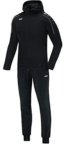 JAKO Kinder Trainingsanzug Polyester Classico mit Kapuze, schwarz, 164, M9450