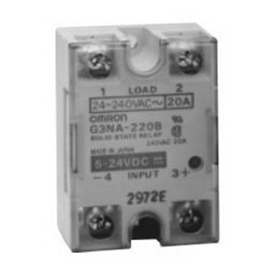 Omron G3NA-225B-UTU DC5-24 Solid State Relay, VDE Certified Model, Zero Cross Function, Yellow Indicator, Photocoupler Isolation, 25 A Rated Load Current, 24 to 240 VAC Rated Load Voltage, 5 to 24 VDC Input Voltage