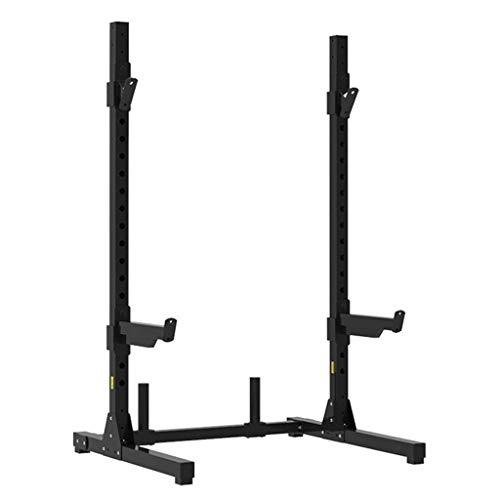 LJYY Power Tower/höhenverstellbarer Hantelständer für Langhantel- / Gewichtsplattenpaar - Sicherheitshaken mit Löchern - 400 kg maximale Belastung